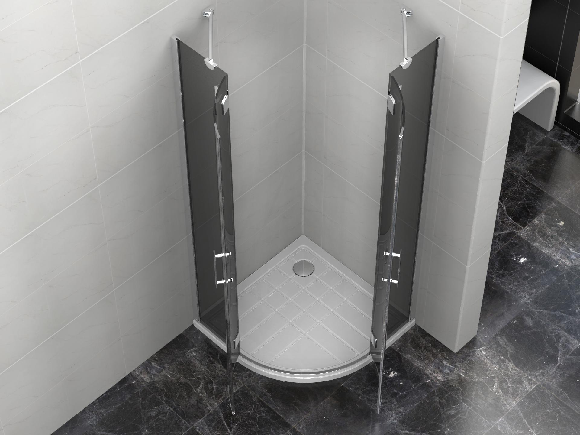 duschkabine 90x90x190cm mit duschtasse 8mm glas palitra. Black Bedroom Furniture Sets. Home Design Ideas